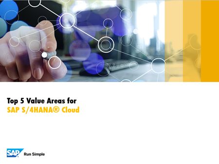 SAP S/4HANA Cloud Top 5 Value Areas