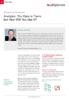 Analytics Perspective Expert Brief