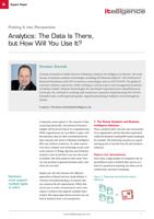Analytics expert brief